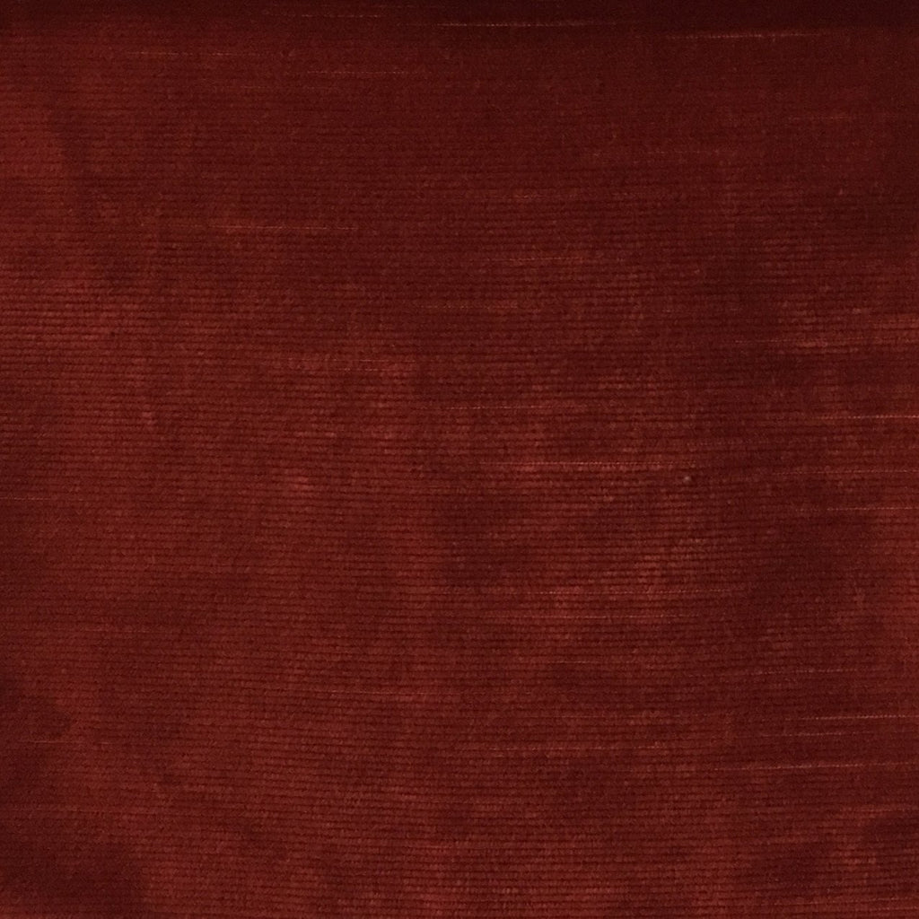 Waterloo - Slubbed Plush Velvet Upholstery Fabric by the Yard - Available in 15 Colors - Henna - Top Fabric - 5