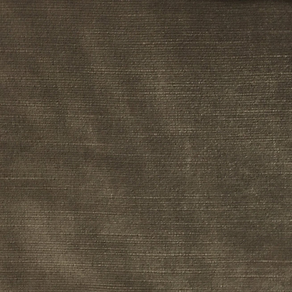 Waterloo - Slubbed Plush Velvet Upholstery Fabric by the Yard - Available in 15 Colors - Otter - Top Fabric - 12