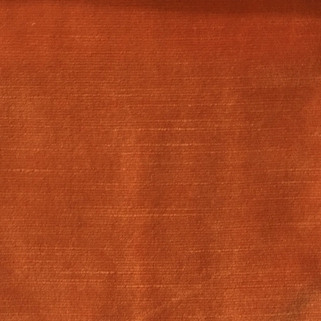 Waterloo - Slubbed Plush Velvet Upholstery Fabric by the Yard - Available in 15 Colors - Satsuma - Top Fabric - 3