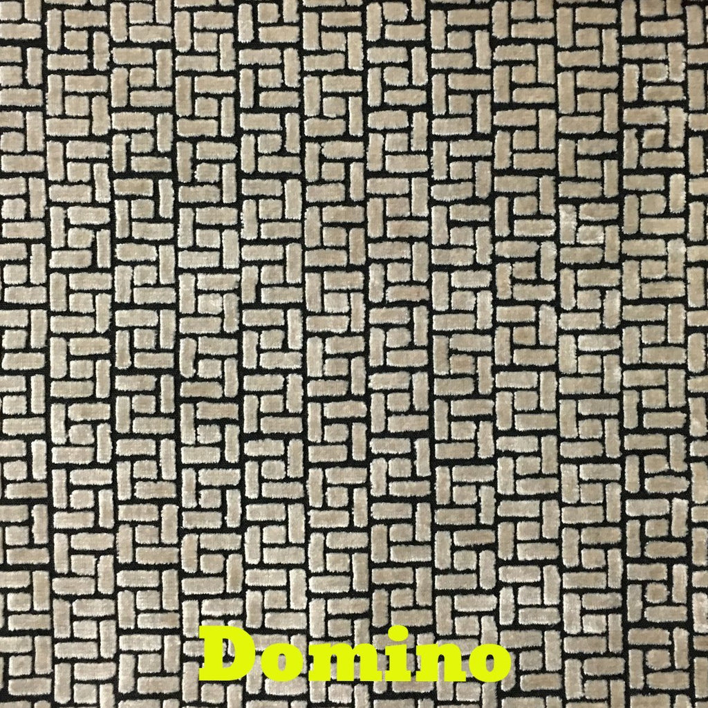 Westfield - Burnout Velvet Upholstery Fabric by the Yard - Available in 16 Colors - Domino - Top Fabric - 1