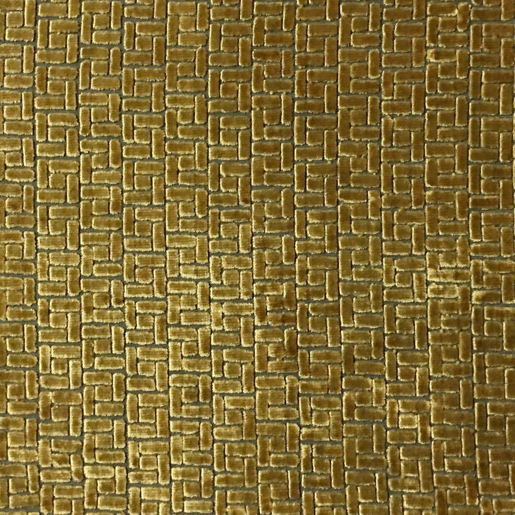 Westfield - Burnout Velvet Upholstery Fabric by the Yard - Available in 16 Colors - Golden - Top Fabric - 14