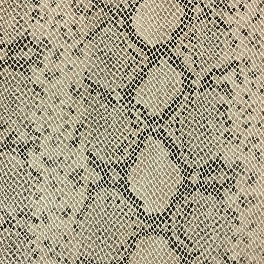 York - Snake Skin Pattern Embossed Vinyl Upholstery Fabric by the Yard - Available in 5 Colors - Beach - Top Fabric - 4