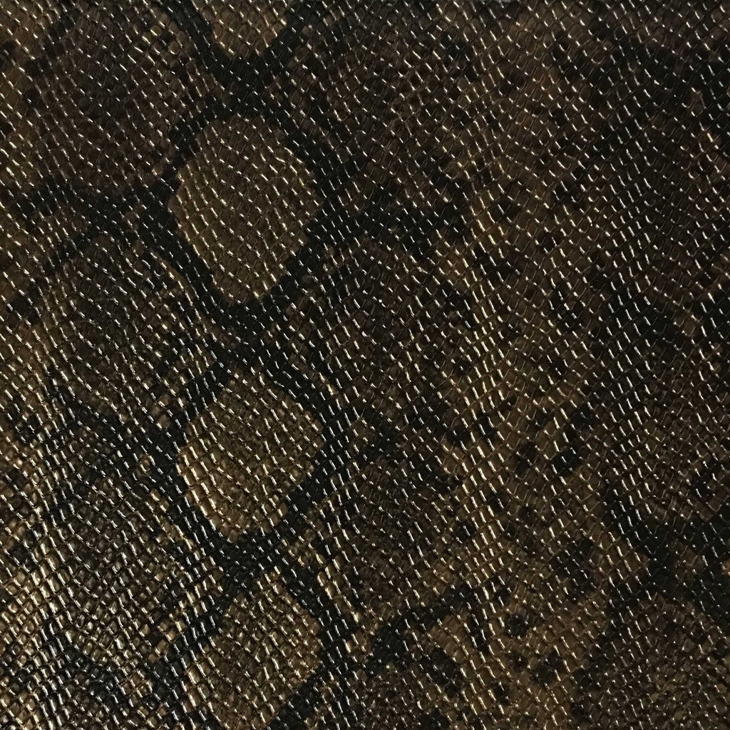 York - Snake Skin Pattern Embossed Vinyl Upholstery Fabric by the Yard - Available in 5 Colors - Bronze - Top Fabric - 3