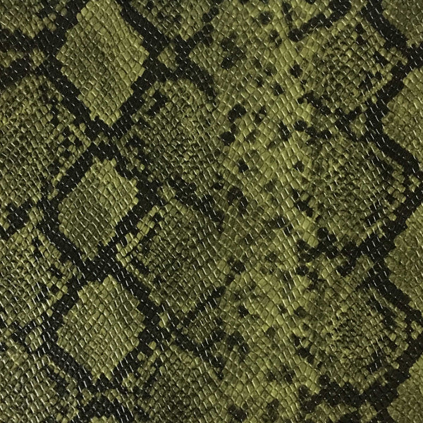 York - Snake Skin Pattern Embossed Vinyl Upholstery Fabric by the Yard - Available in 5 Colors - Silver - Top Fabric - 1
