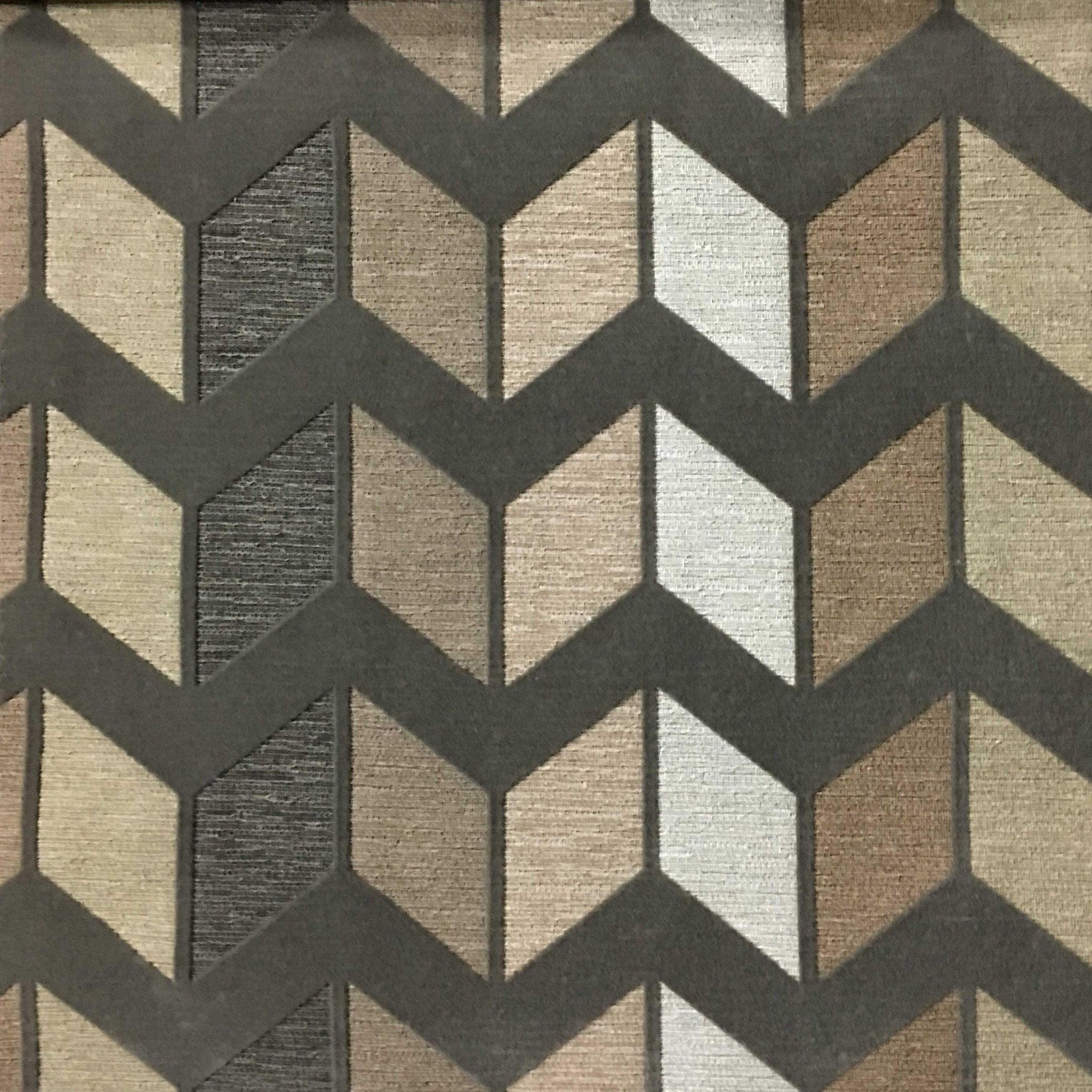 Chevron print fabric by the yard -  Ziba Modern Texture Chevron Pattern Cotton Polyester Blend Upholstery Fabric By The Yard Available
