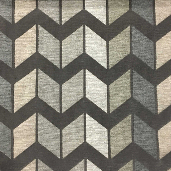 Ziba Chevron Pattern Cotton Blend Upholstery Fabric By
