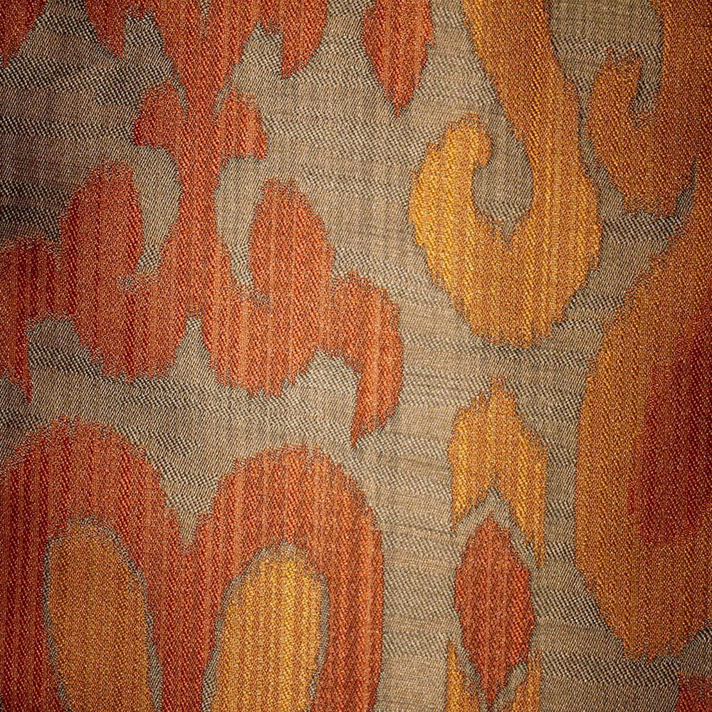 Baron - Jacquard Ikat Designer Pattern Home Decor Drapery Fabric by the Yard - Available in 9 Colors - Atomic - Top Fabric - 3