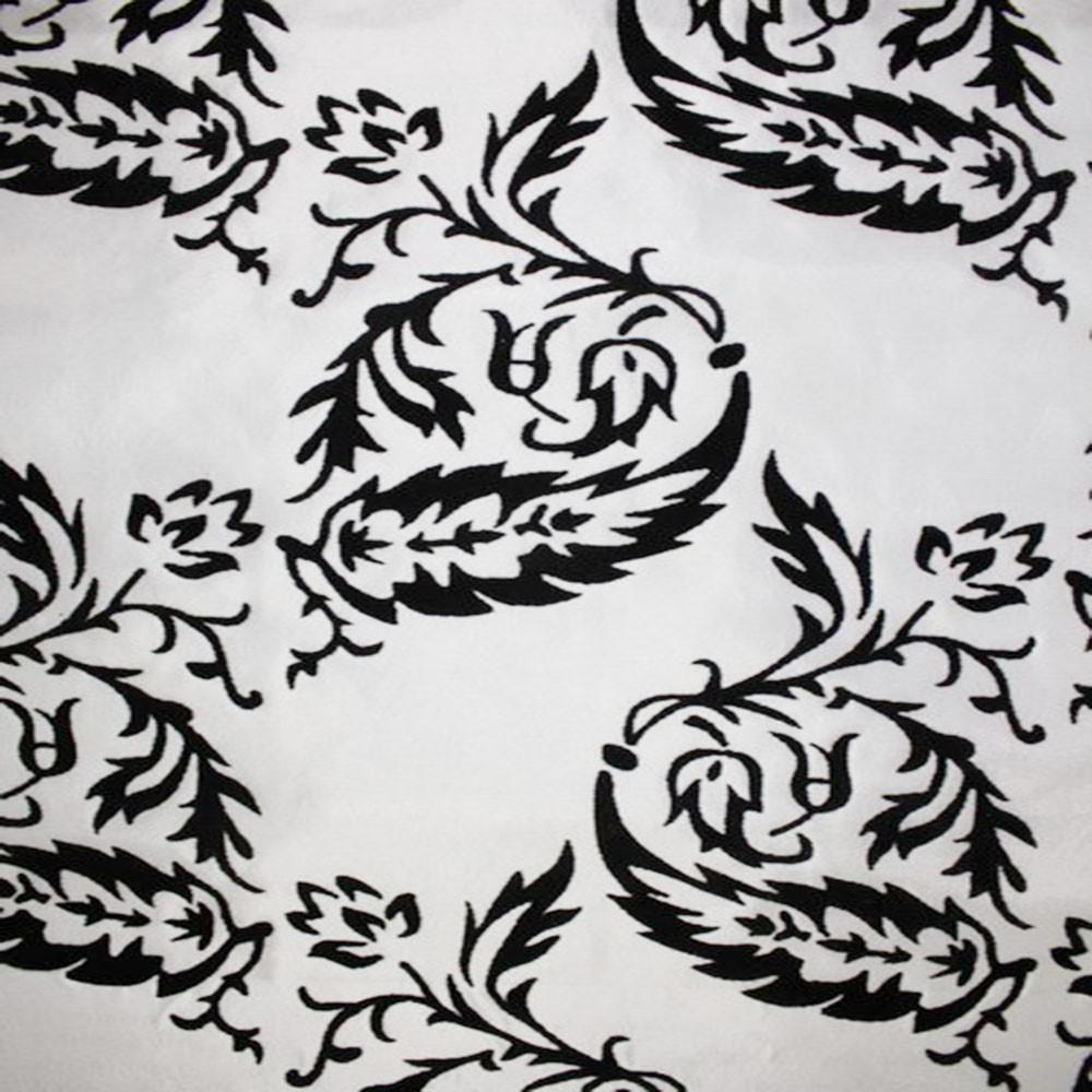 Astoria Collection - Black and White Taffeta Fabric by the Yard - Available Patterns: 42 - Pattern 10 - Top Fabric - 15