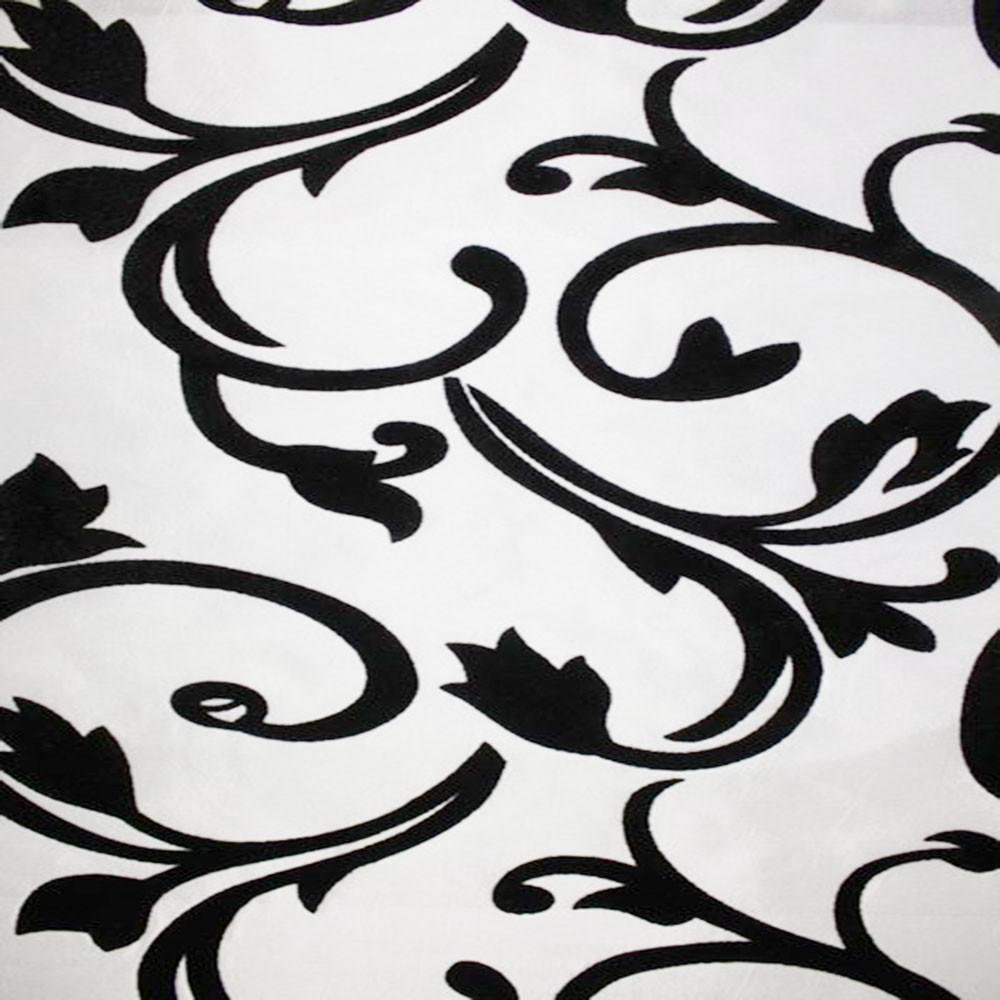 Astoria Collection - Black and White Taffeta Fabric by the Yard - Available Patterns: 42 - Pattern 11 - Top Fabric - 16