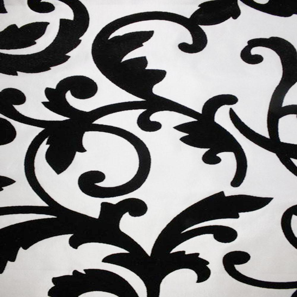 Astoria Collection - Black and White Taffeta Fabric by the Yard - Available Patterns: 42 - Pattern 12 - Top Fabric - 17