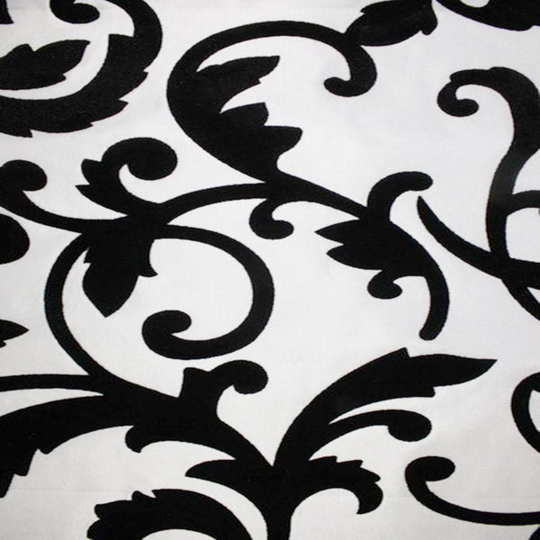 Astoria Collection - Black and White Taffeta Fabric by the Yard - Available Patterns: 42 - Pattern 5 - Top Fabric - 11