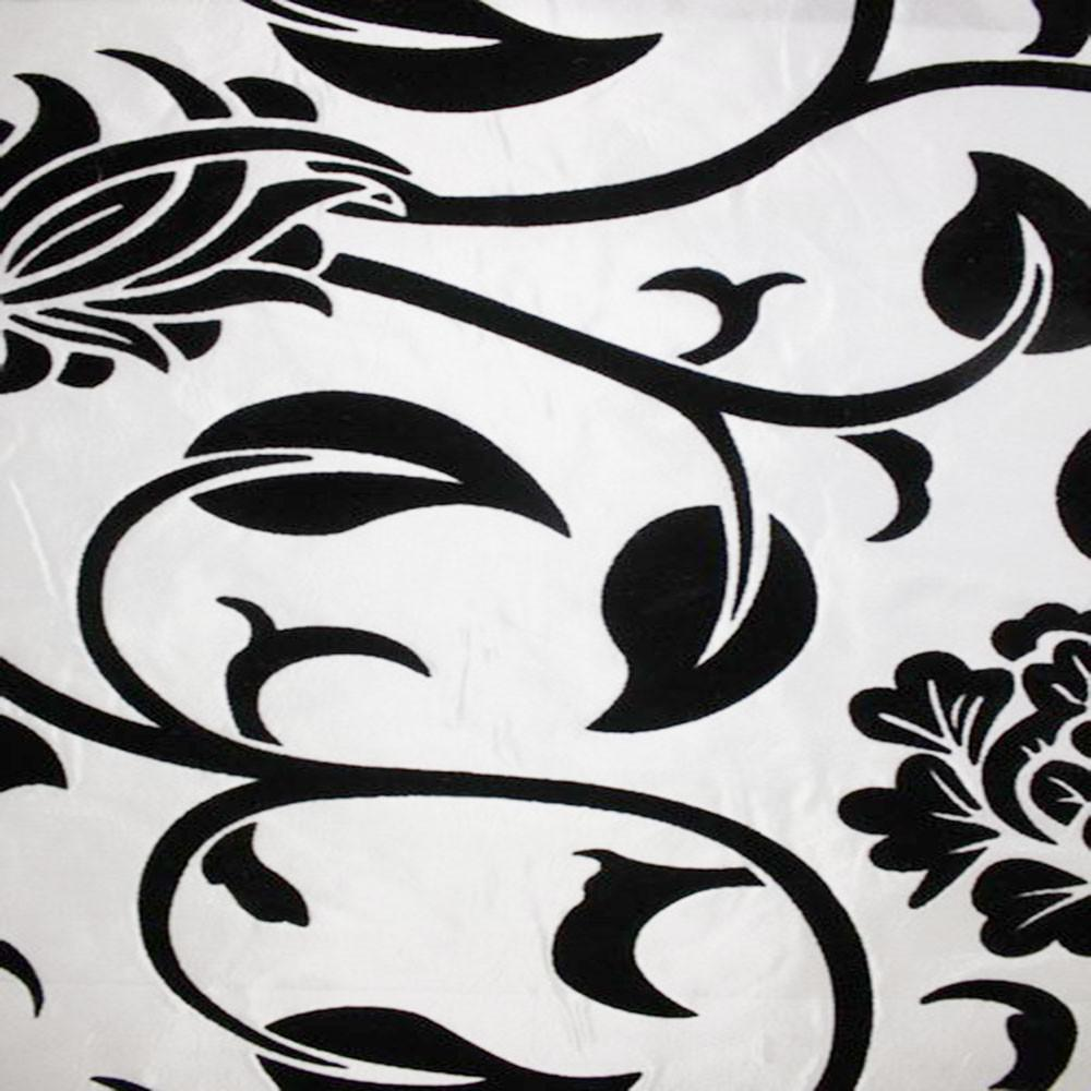 Astoria Collection - Black and White Taffeta Fabric by the Yard - Available Patterns: 42 - Pattern 14 - Top Fabric - 18