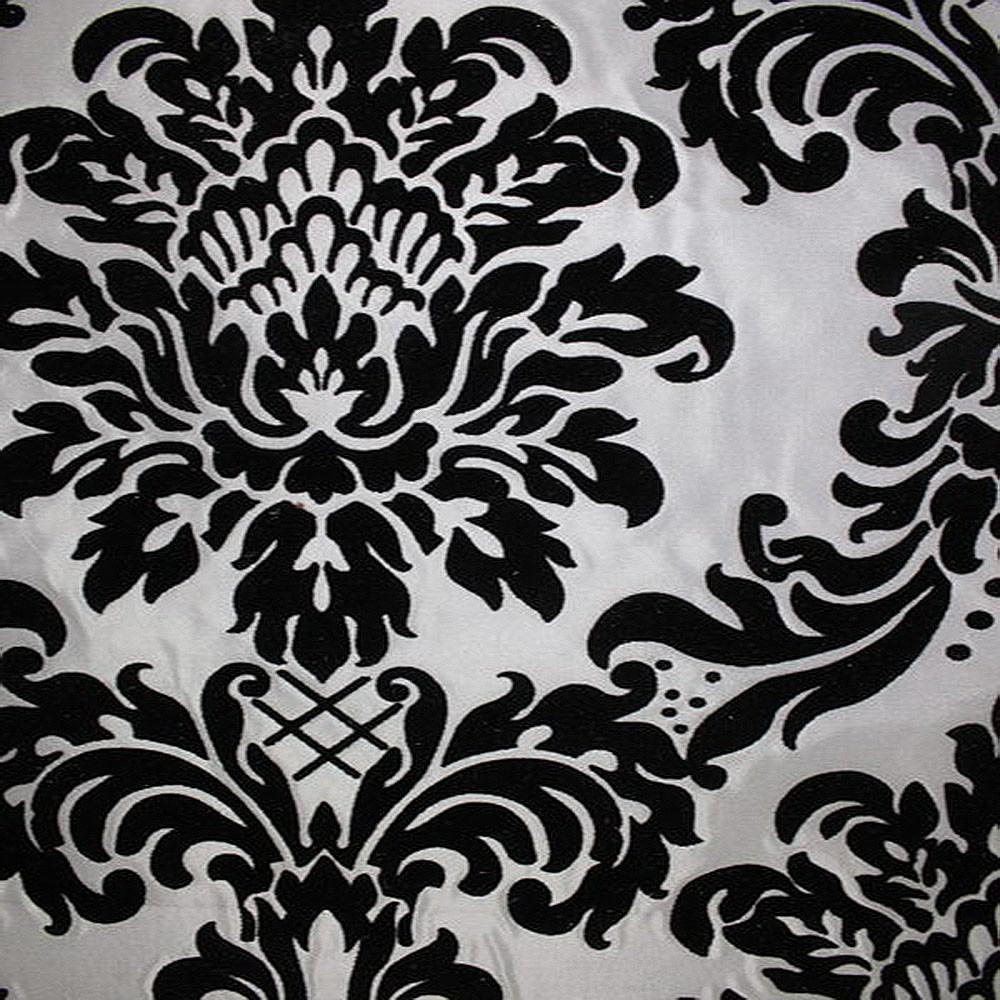Astoria Collection - Black and White Taffeta Fabric by the Yard - Available Patterns: 42 - Pattern 1 - Top Fabric - 6