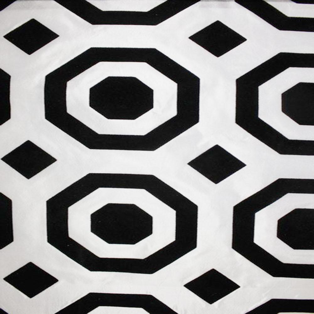 Astoria Collection - Black and White Taffeta Fabric by the Yard - Available Patterns: 42 - Pattern 25 - Top Fabric - 25