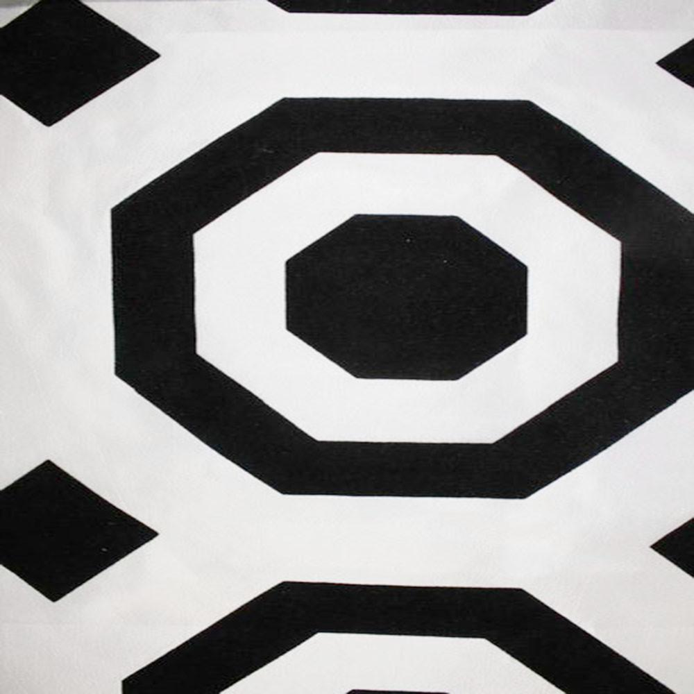 Astoria Collection - Black and White Taffeta Fabric by the Yard - Available Patterns: 42 - Pattern 26 - Top Fabric - 26