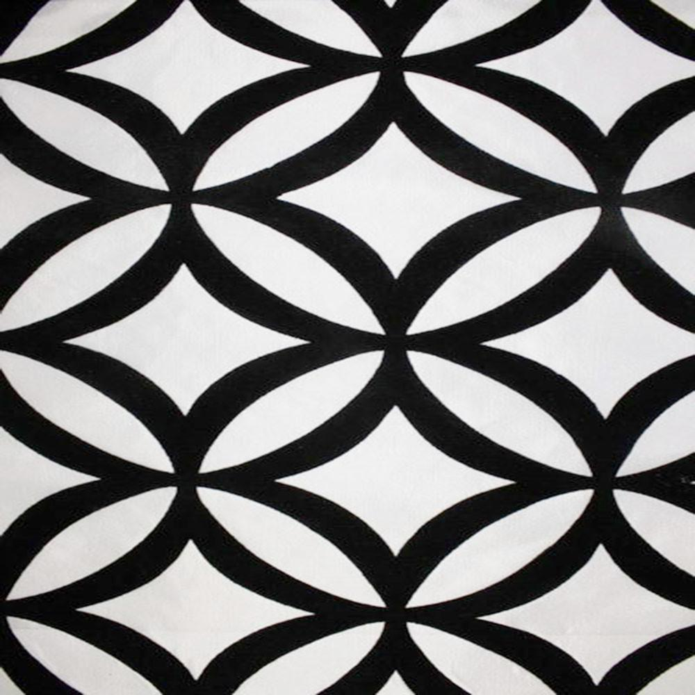 Astoria Collection - Black and White Taffeta Fabric by the Yard - Available Patterns: 42 - Pattern 28 - Top Fabric - 28