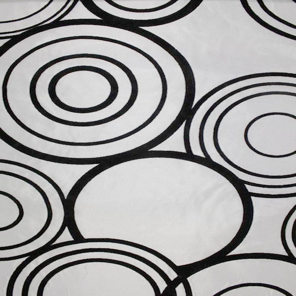 Astoria Collection - Black and White Taffeta Fabric by the Yard - Available Patterns: 42 - Pattern 31 - Top Fabric - 31