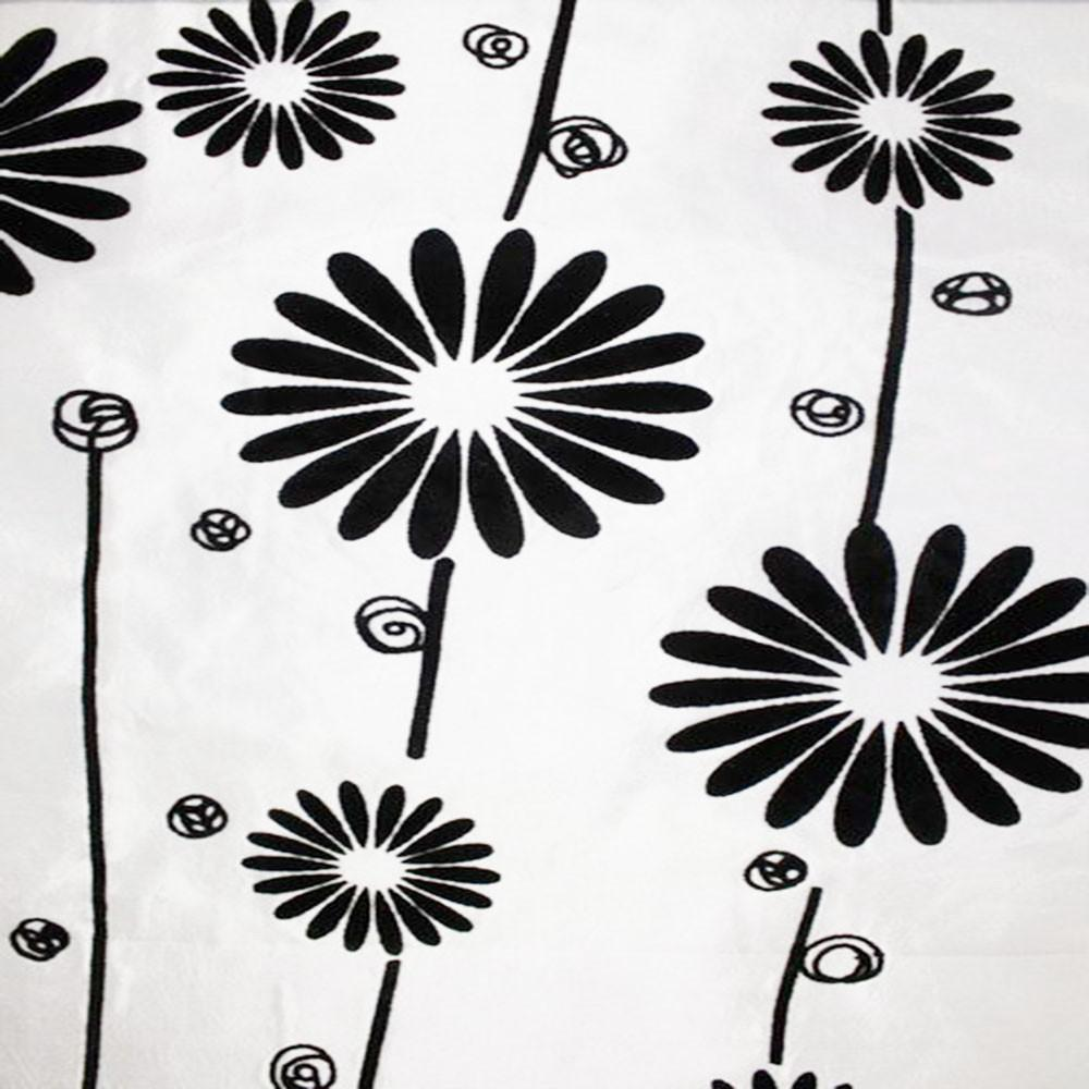 Astoria Collection - Black and White Taffeta Fabric by the Yard - Available Patterns: 42 - Pattern 35 - Top Fabric - 35