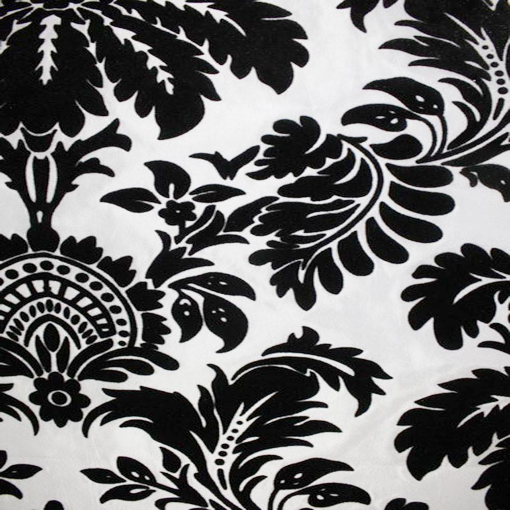 Astoria Collection - Black and White Taffeta Fabric by the Yard - Available Patterns: 42 - Pattern 3 - Top Fabric - 9