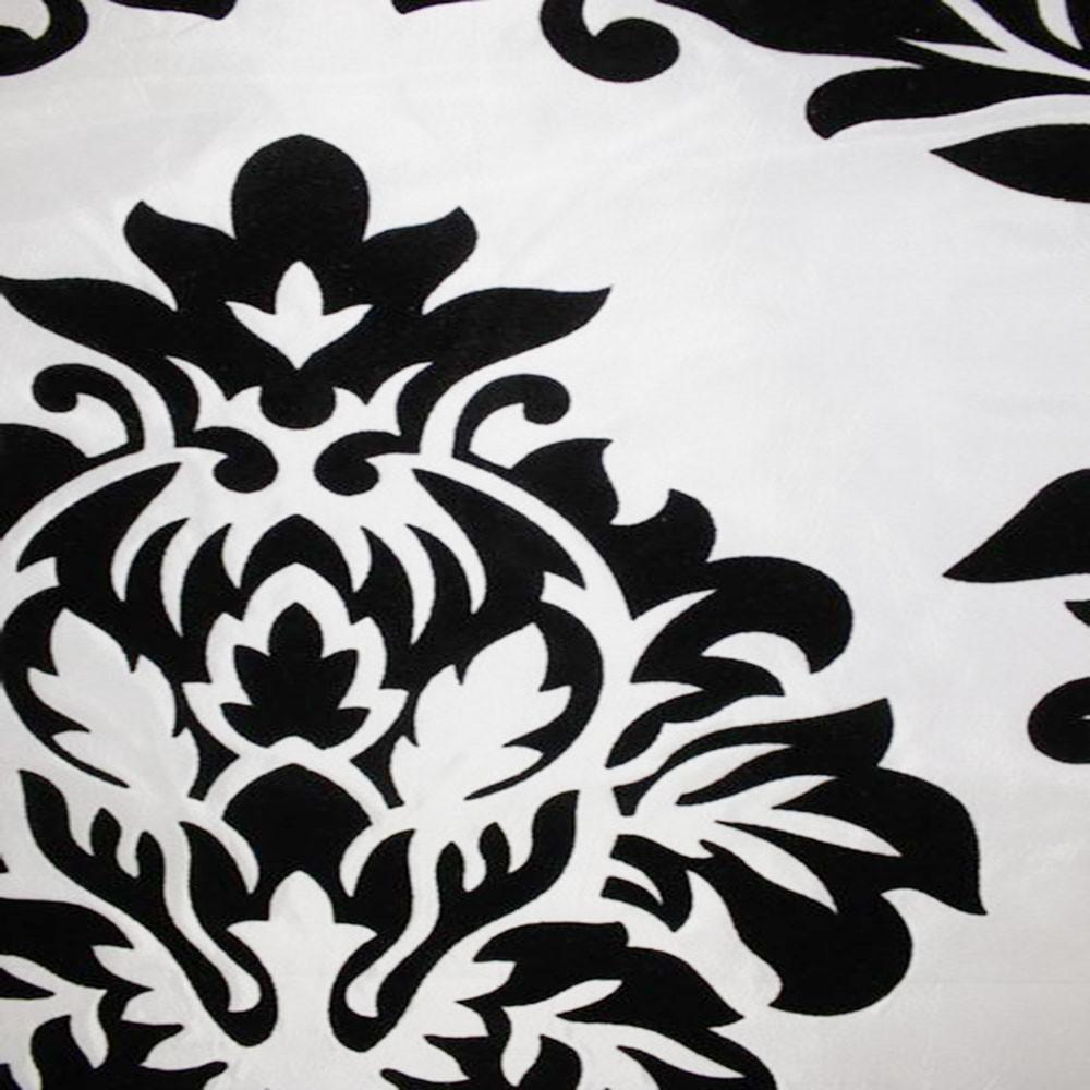 Astoria Collection - Black and White Taffeta Fabric by the Yard - Available Patterns: 42 - Pattern 4 - Top Fabric - 10