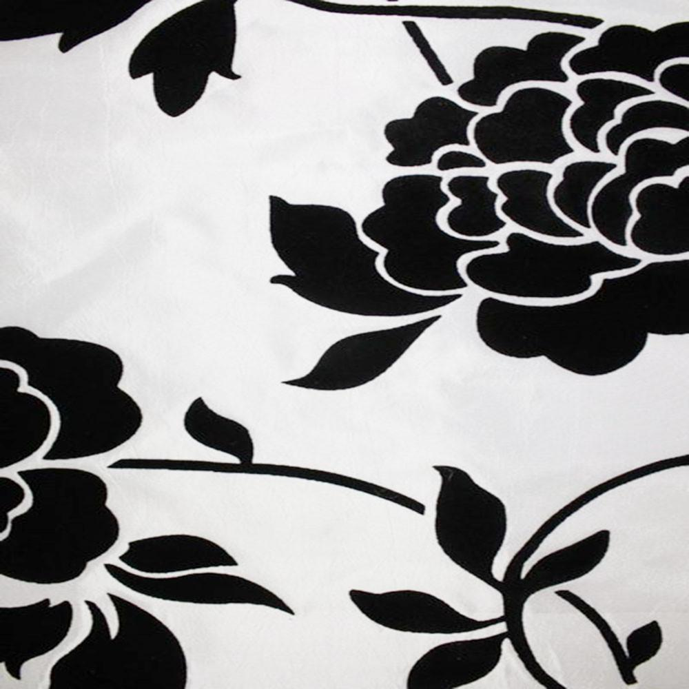 Astoria Collection - Black and White Taffeta Fabric by the Yard - Available Patterns: 42 - Pattern 6 - Top Fabric - 12