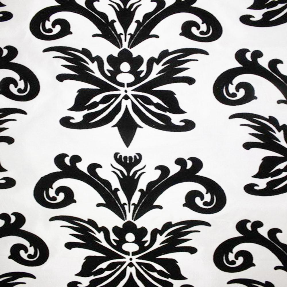 Astoria Collection - Black and White Taffeta Fabric by the Yard - Available Patterns: 42 - Pattern 7 - Top Fabric - 13