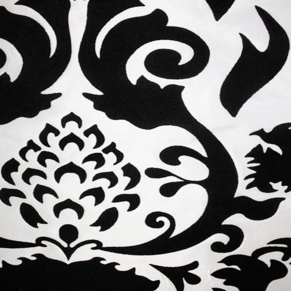 Astoria Collection - Black and White Taffeta Fabric by the Yard - Available Patterns: 42 - Pattern 8 - Top Fabric - 14