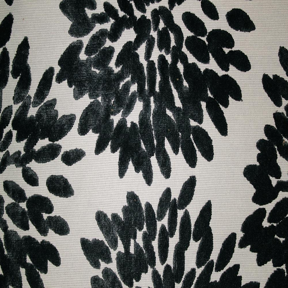 Florence Fiori - Floral Pattern Burnout Velvet Upholstery Fabric by the Yard - Available in 10 Colors - Silver - Top Fabric - 6