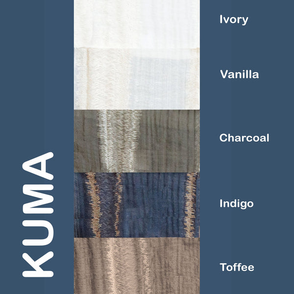 "Kuma - 110"" Organza Fabric Window Curtain Drapery Fabric by the Yard"