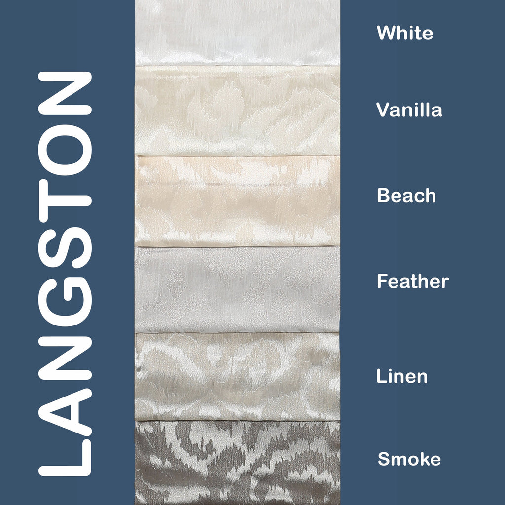 "Langston - 110"" Organza Fabric Window Curtain Drapery Fabric"