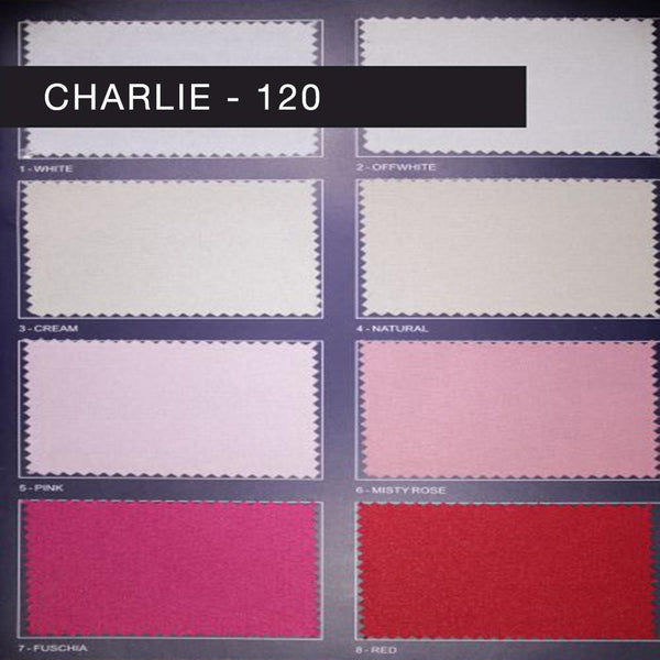 "Charlie 120 - Basic 120"" Wide Polyester Fabric by the Yard - Available in 45 Colors -  - Top Fabric - 1"