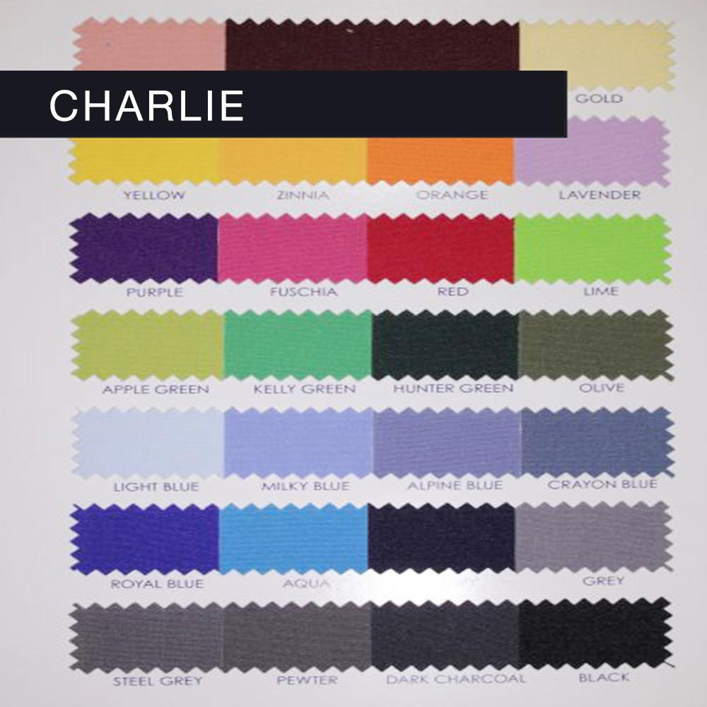 Charlie - Basic Multipurpose Polyester Fabric by the Yard - Available in 45 Colors - Alpine Blue - Top Fabric - 1
