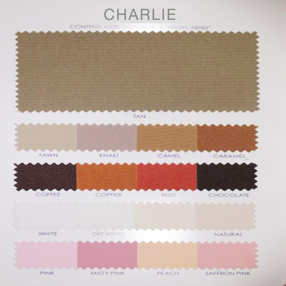 Charlie - Basic Multipurpose Polyester Fabric by the Yard - Available in 45 Colors - Camel - Top Fabric - 2