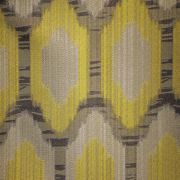 Oval - Jacquard Fabric Designer Pattern Home Decor Drapery & Pillow Fabric by the Yard - Available in 9 Colors - Domino - Top Fabric - 1