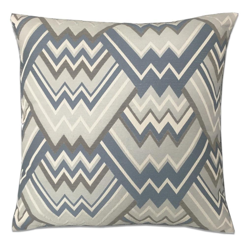 Maze Feather Down Pillow - Colors: 7 - Grey and Blue - Top Fabric - 3