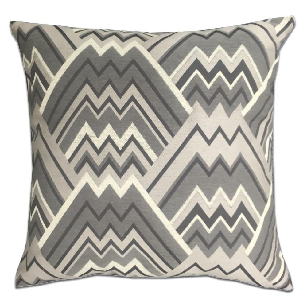 Maze Feather Down Pillow - Colors: 7 - Grey - Top Fabric - 2