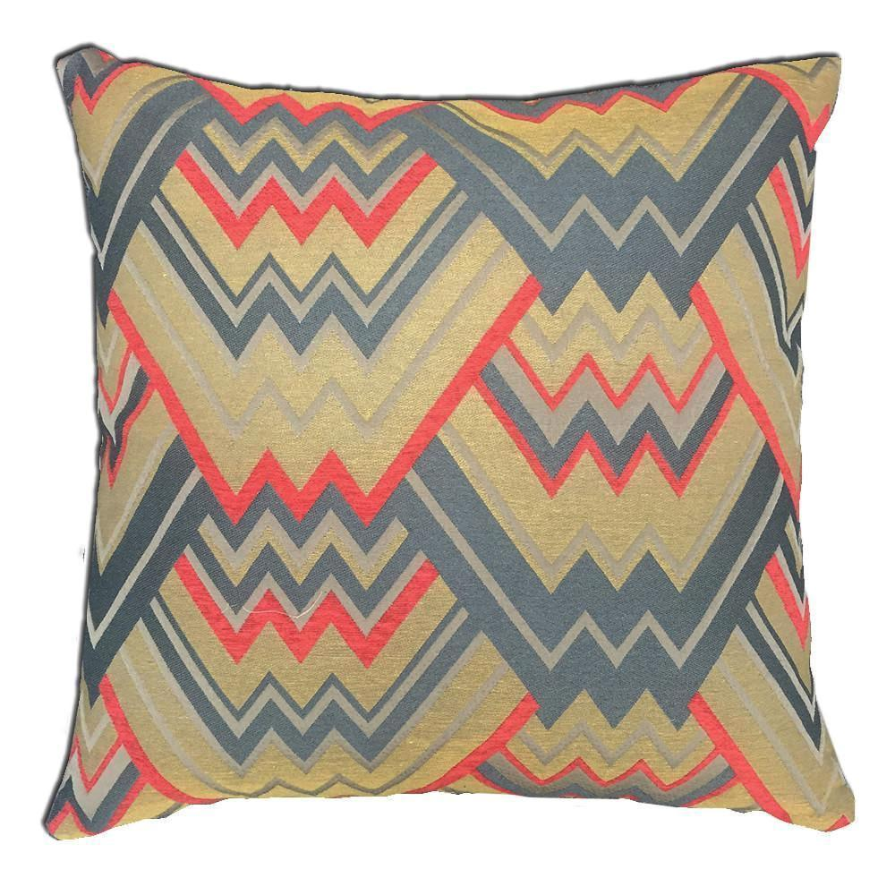 Maze Feather Down Pillow - Colors: 7 - Yellow - Top Fabric - 4