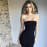 TUBE DRESS IN BLACK