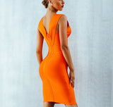 ALIZA DRESS IN TANGERINE