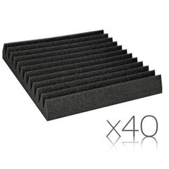 12 Teeth Wedge 30 x 30cm Acoustic Foam Panels x 40