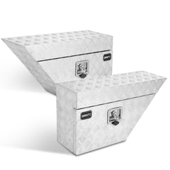 Set of 2 Aluminium Under Tray Tool Boxes