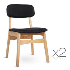 Set of 2 Replica Ari Dining Chairs - Black