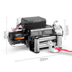 GIANTZ 12V 14500lbs Winch