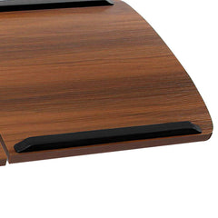 Mobile Adjustable Laptop Desk - Walnut