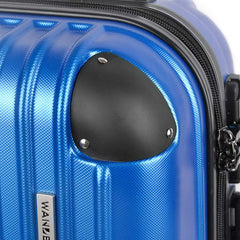 3pc Blue Luggage Set