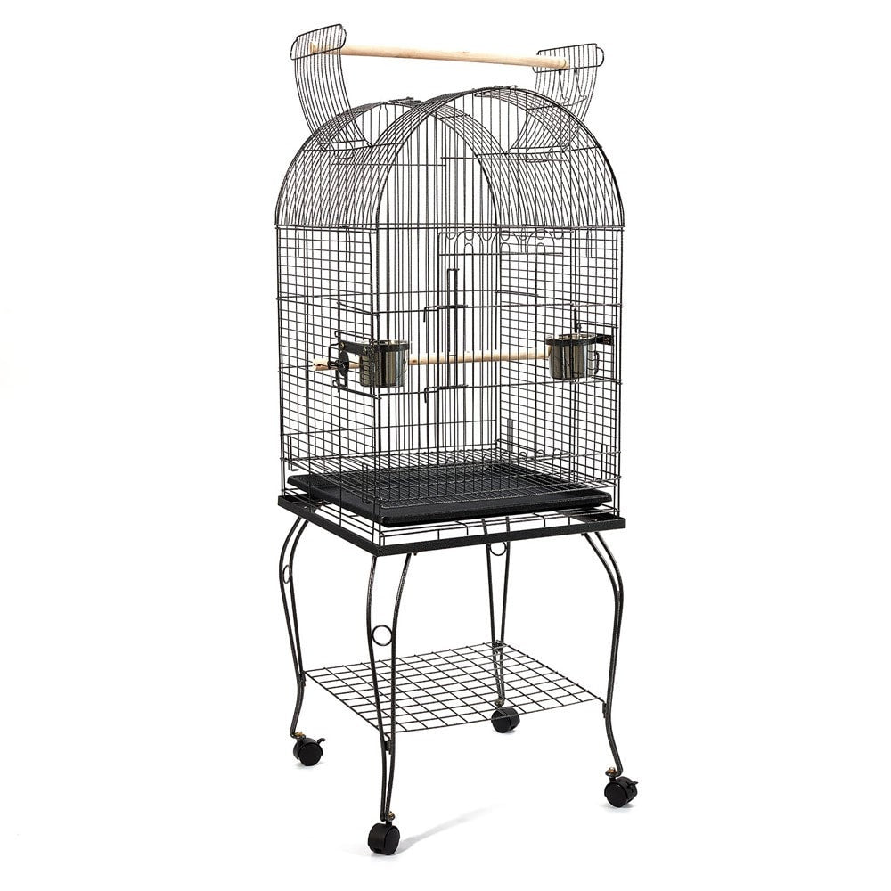 Parrot Pet Aviary Bird Cage w/ Open Roof 150cm Black