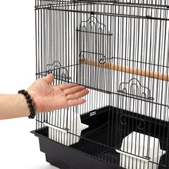 Pet Bird Cage Black Medium - 88CM