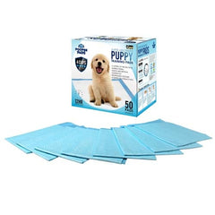 50 Puppy Pet Dog Toilet Training Pads Blue