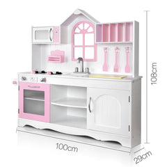 Wooden Kitchen Playset - White