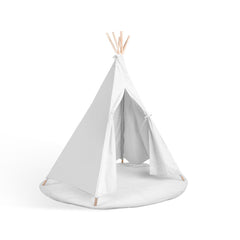 Kids 6 Pole Teepee Canvas Tent White